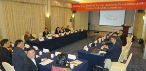 "Meeting of the Central Asia medical forum ""Zoonosis Prevention and Control in CAREC countries"""