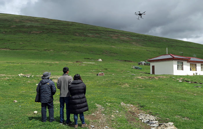Flying a drone at RiZha