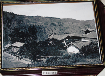 A landscape that could not be located; the church was wrongly attributed to Ba Dong village