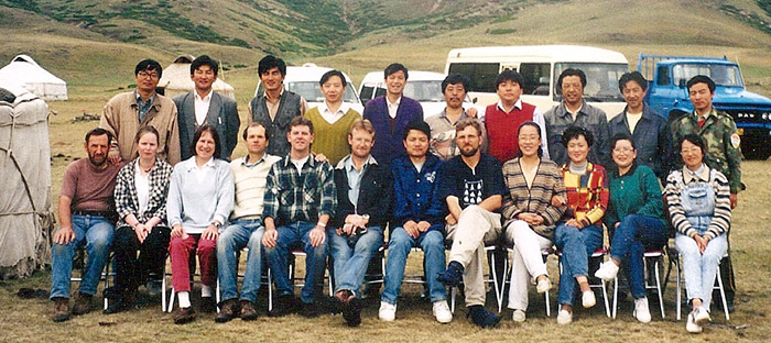 Kokehada pastures, Northern Xinjiang, July 1994: one of the first multidisciplinary field work of our research group