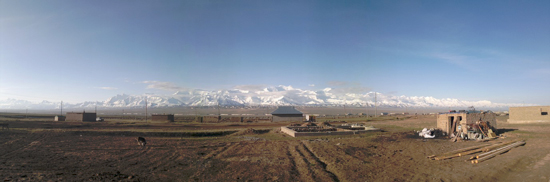 Panoramic view of the Sary Mogol study area