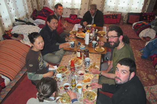 Dinner at the base camp