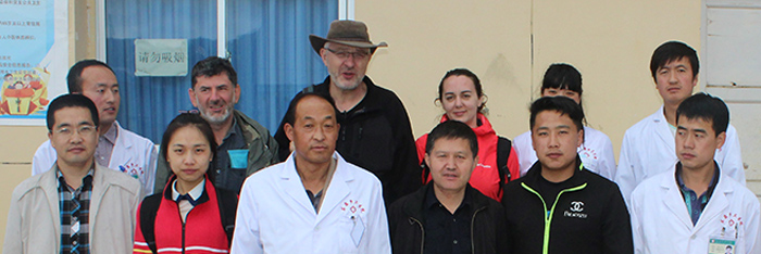 The field team at Han Chuan (now Dong Chuan) hospital